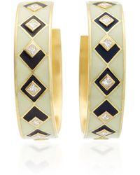 Amrapali - Mosaic 18k Gold And Diamond Hoop Earrings - Lyst