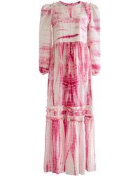 Alix Of Bohemia Plume Shibori Dress - Pink