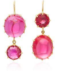 Renee Lewis | 18k Gold Ruby Earrings | Lyst