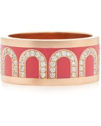 Davidor L'arc 18k Rose Gold And Diamond Ring - Pink