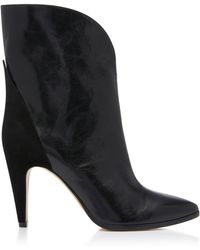 Givenchy - Leather & Suede Gv3 Mid Calf Boots - Lyst