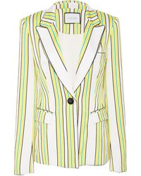 Alexis Edana Single Breasted Striped Blazer - Multicolor