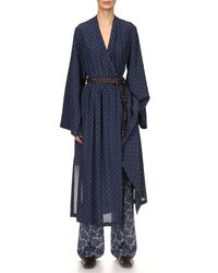 Michael Kors Silk Pajama Pants - Blue
