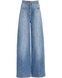 Ulla Johnson Abrams Stretch High-rise Wide-leg Jeans - Blue