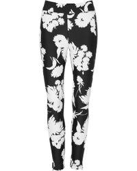 Ganni Skinny Fit Floral Pants - Black