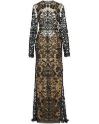 Cucculelli Shaheen - Black Magic Nouveau Lace Gown - Lyst