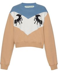Off-White c/o Virgil Abloh - Horse Crewneck Sweater - Lyst