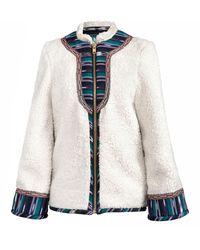 Alix Of Bohemia Saami Cotton Fleece Jacket - White