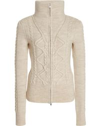 Isabel Marant Dixon Cable-knit Wool-blend Cardigan - Natural
