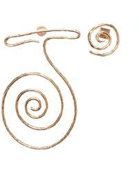 Jacquemus La Spirale Brass Statement Earrings - Metallic