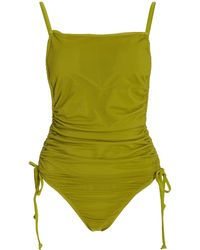 Andrea Iyamah Adan Ruched One-piece Swimsuit - Green