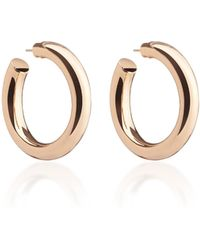 Jennifer Fisher Mini Jamma 14k Rose Gold-plated Hoop Earrings - Metallic