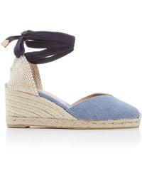 Castaner - Chiara Denim Lace-up Espadrilles - Lyst
