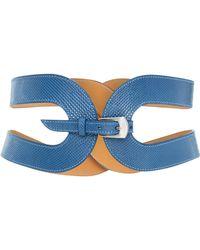 Maison Vaincourt - M'o Exclusive The Cage Snake Skin Waist Belt - Lyst