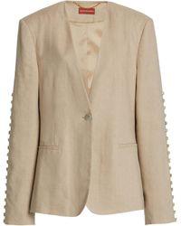 Altuzarra Fern Linen-blend Button Jacket - Natural