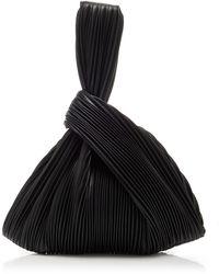 Nanushka Jen Pleated Vegan Leather Top-handle Bag - Black