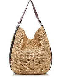 Isabel Marant Bayia Leather-trimmed Raffia Shoulder Bag - Brown