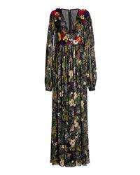 Costarellos Minnitha Floral-appliquéd Printed Chiffon Jumpsuit - Multicolour