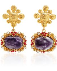 Christie Nicolaides Tesoro Amethyst Earrings - Purple