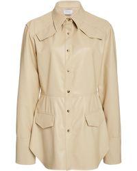 Deveaux Sierra Vegan Leather Shirt - Natural