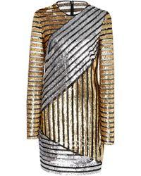 Michael Kors - Crewneck Long Sleeve Dress - Lyst