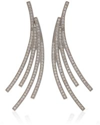 Lynn Ban - Sterling Silver Diamond Earrings - Lyst