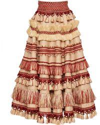 Dolce & Gabbana - Crepe Embellished Skirt - Lyst