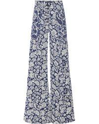 Ulla Johnson Greer Rigid High-rise Wide-leg Jean - Blue