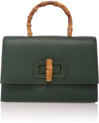 Glorinha Paranagua Bisa Leather Bag - Green