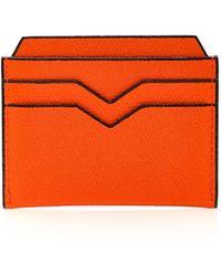 Valextra - Pebbled Leather Cardholder - Lyst