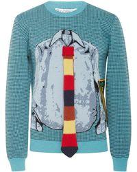 JW Anderson - Trompe L'oeil Shirt And Tie Jumper - Lyst