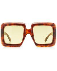 Gucci - Oversized Square-frame Acetate Sunglasses - Lyst
