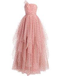 Jenny Packham Polka-dot Ruffled Tulle Dress - Pink