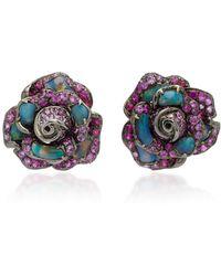 Wendy Yue Opal Stud Earrings - Multicolor