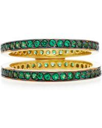 Joanna Laura Constantine - Gold-plated Crisscross Ring - Lyst