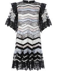 Needle & Thread Alaska Mini Dress - Black