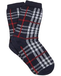 Burberry - Vintage Check Knitted Socks - Lyst