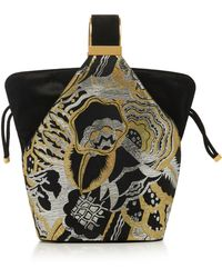 Bienen-Davis Kit Bracelet Bag in Lurex with Gold Hardware Wg27KA2Xu
