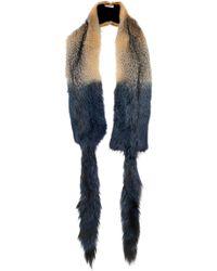 Marni - Grey Fox Fur Stole - Lyst