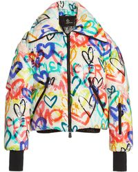 Moncler Genius 3 Moncler Grenoble Heart-print Puffer Jacket - Multicolor