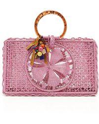 Silvia Tcherassi Riomar Iraca Palm Bag - Pink
