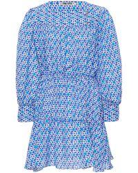 Ciao Lucia Alessandra Printed Silk Mini Dress - Blue