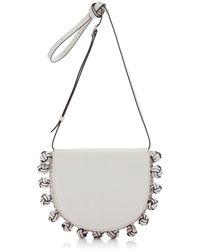 Loewe Heel Knots Leather Belt Bag - White