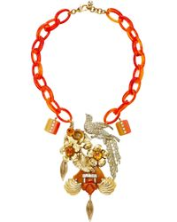 Lulu Frost One-of-a-kind Vintage 100 Year Necklace #9 - Orange