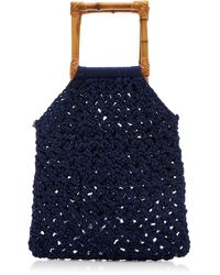 Nannacay Juniper Macramé Handle Bag - Blue