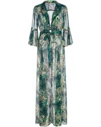 Anna Sui - Butterfly Feather Silk Mesh And Lurex Jacquard Cover-up - Lyst