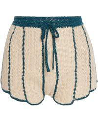 Anna Sui - Sea Shell Deco Crochet Shorts - Lyst