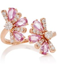Hueb - Exclusive 18k Rose Gold, Sapphire And Diamond Rings - Lyst