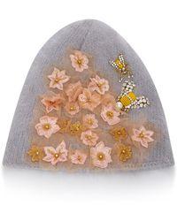 13a54cdcdfb Jennifer Behr - Gardenia Embellished Wool And Alpaca-blend Beanie - Lyst