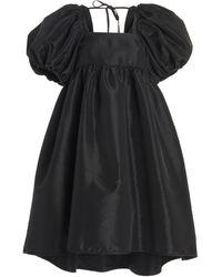 Cecile Bahnsen Tilde Taffeta Mini Babydoll Dress - Black